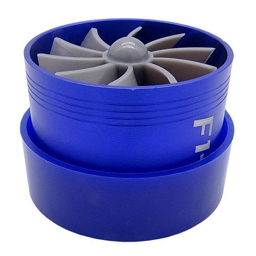 F1-Z Universal Supercharger Turbo Turbonator Air Intake Fuel Gas Saver Economic Fan Drop Shipping Aluminum alloy Blue