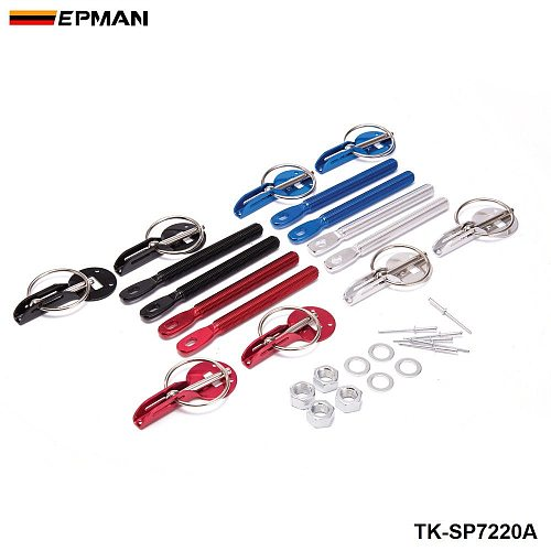 EPMAN Sport Alloy Black Bonnet Hood Pin Lock Kit Down Hood Locks Pins For Ford F250 6.0L Twin Beam 03-07 TK-SP7220A