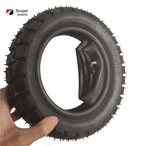 For ZERO 10X  Tire 255x80 10 Inch Off-road Tire Inner  Outer Tire  Cross-country Tire Non-slip and Thickened Electric Scooter