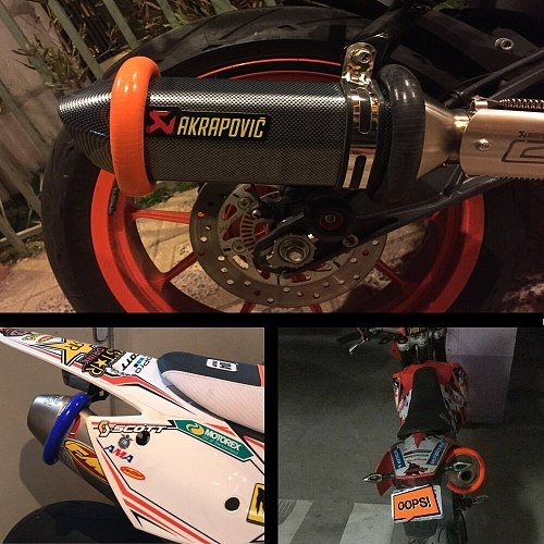 Universal ACERBIS MX Exhaust Escape Muffler Silencer Protector Guard for Ktm Exc Crf 230 Dirt Bike Parts Enduro Motocross