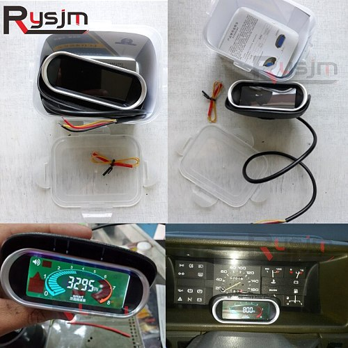 High Quality Universal Auto Car LCD Tachometer Digital Engine Tach Gauge Car Motorcycle rpm meter 12/24v Ship From Russia