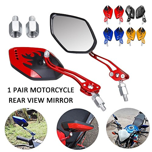 2PCS/Set 360 Degree Rotation Universal Motorcycle Rearview Mirrors Motorcycle Scooter Rear View Side Back Mirrors 8 / 10mm