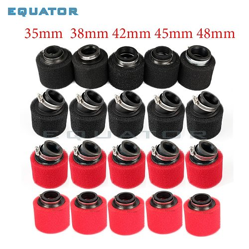 motorcycle pit dirt bike ATV parts 35mm 38mm 42mm 45mm 48mm Bent Angled Foam Air Filter Pod PIT Quad Dirt Bike  Buggy