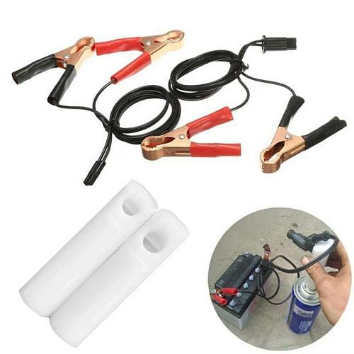 Hot Car Fuel System Cleaning Set Fuel Injector Flush Cleaner Adapter Cleaning Tool Set  Car Nozzle Kit Cleaning Tool Kit Set