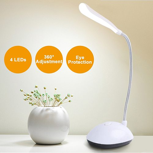 LED Desk Lamp table top lanterns Flexible Foldable Eye Protection Table Lamp AAA Battery Powered Reading Book Lights Children