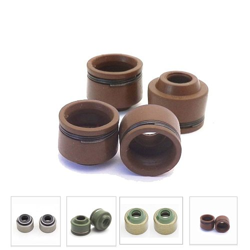 4pcs Motorcycle VALVE STEM OIL SEALS For Honda CG125 CG150 Yamaha YP250 GS 150cc 125cc CG CB JH70 GY6 50 125 ZY125 SCOOTER MOPED