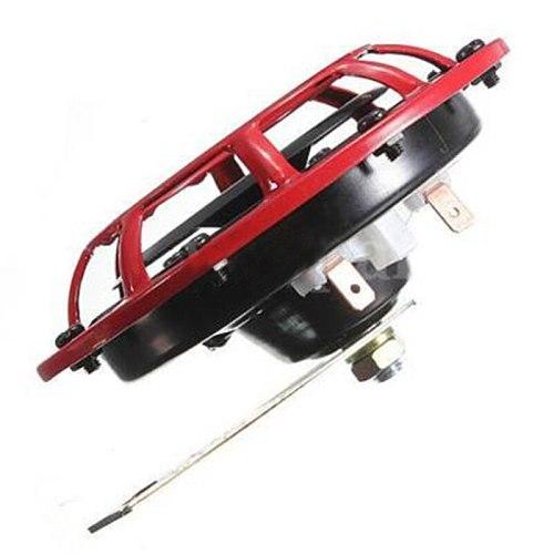 Supertone Dual Car Grille Horn (Pair) 12V 139dB For Subaru Impreza WRX Evo New ( Red / Black)