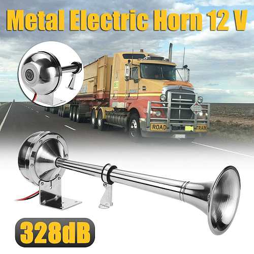 328DB Car Horn Super Loud 12V Single Trumpet Air Horn Compressor for Car Truck Boat Train Horn Hooter For Auto Sound Signal