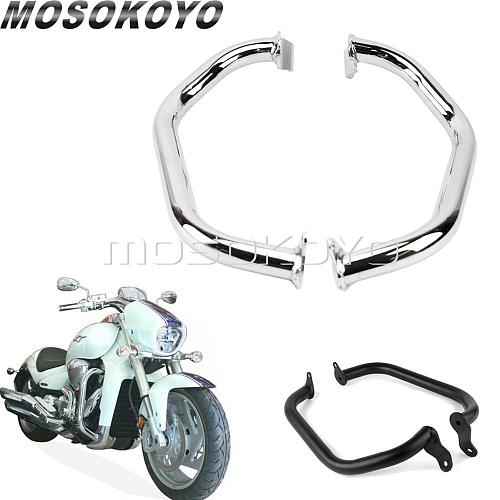 Chrome/Black 32mm Tube Strong Frame Engine Guard Crash Bars Bumper Protection for Suzuki Boulevard M109R 2006-2017