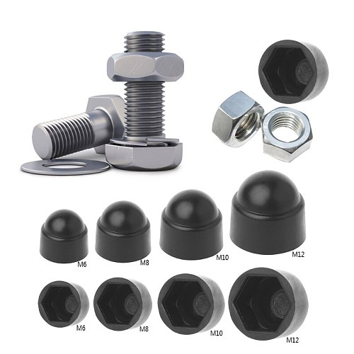 10Pcs Hexagon Plastic  M6 M8 M10 M12 Bolt Nut Dome Protection Caps Covers Exposed Protect against weathering