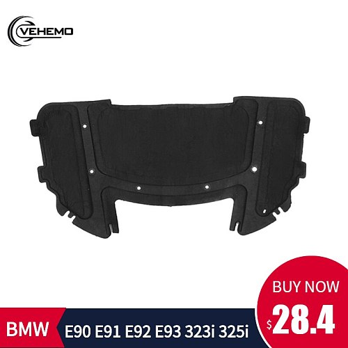 Car Sound Pad Hood Soundproof Hood Engine Sound Insulation Pad Durable Cotton Sound Pad for BMW E90 E91 E92 E93 323i 325i