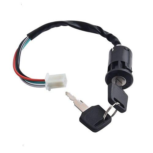 SPEEDWOW Universal 50-125CC Motorcycle Ignition Switch Key With Wire For Honda/Quad Yamaha Suzuki Scooter ATV