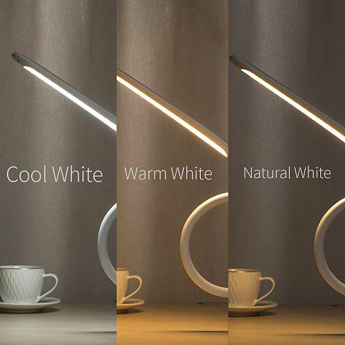 Long Arm Table Lamp Led Flexible Gooseneck Touch Dimming Desk Lamp Clip On Lamp For Reading Bedroom Led Light 3 Color Modes