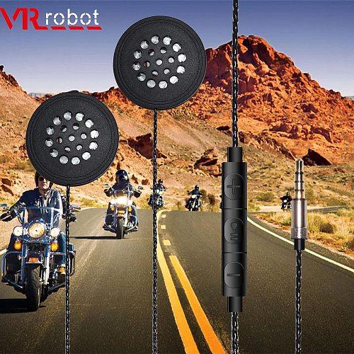 VR robot Motorcycle Helmet Headset 3.5mm Jack Wired Earphones Music Headphones with Handsfree for Motorbike Rider