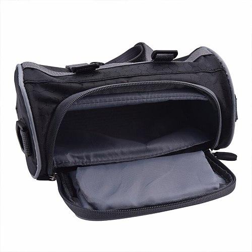 Motorcycle Front Handlebar Storage Bag Universal Waterproof Front Fork Pouch Electric Car Bicycle Handlebar Bag Capacity 2.5L
