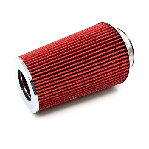 Universal Kits Auto car Race Sports Intake Air Filter Air Filter 3  115 mm Red Cone Filter Cleaner Vent Crankcase