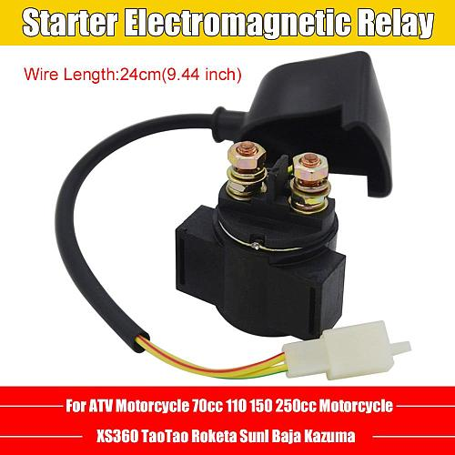 Starter Relay Solenoid For Chinese GY6 70cc 110cc 150cc 250cc Scooter ATV Karts Motorcycles Starting Electromagnetic Relay