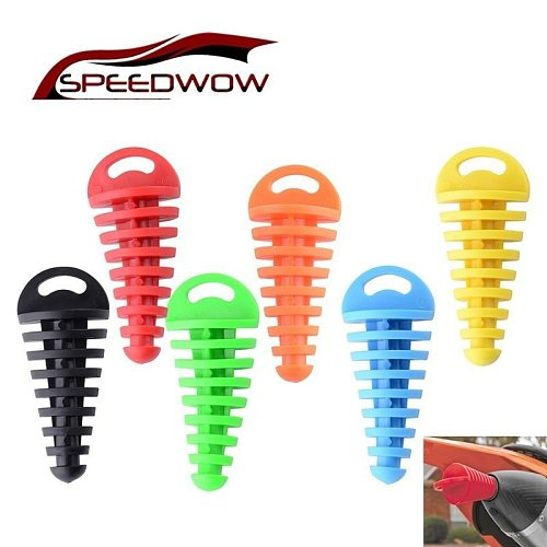 SPEEDWOW Motorcycle Exhaust Pipe Plug Muffler Wash Plug Pipe Protector Motocross Tailpipe Plug Move Blow-Down Silencer PVC