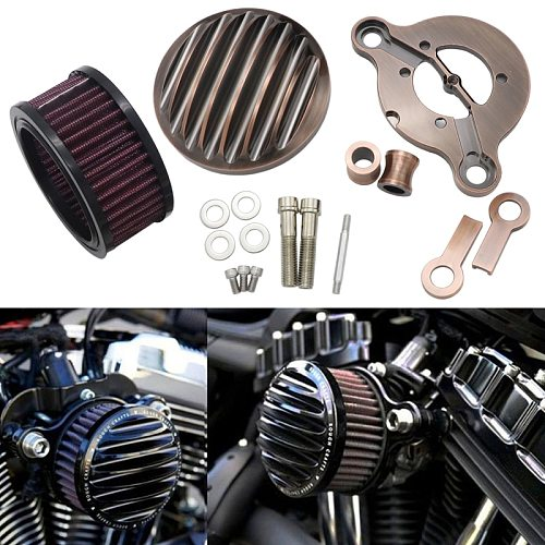 Motorcycle Air Cleaner Intake Filter System Aluminum For Harley-Davidson Sportster 883 1200 1991-2016 Iron 883 2009-2016