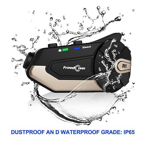 Original Freedconn R1 WiFi  Motorcycle 1080P HD Camera Motorcycle Bluetooth 5.0 Helmet Headset De Casco Moto