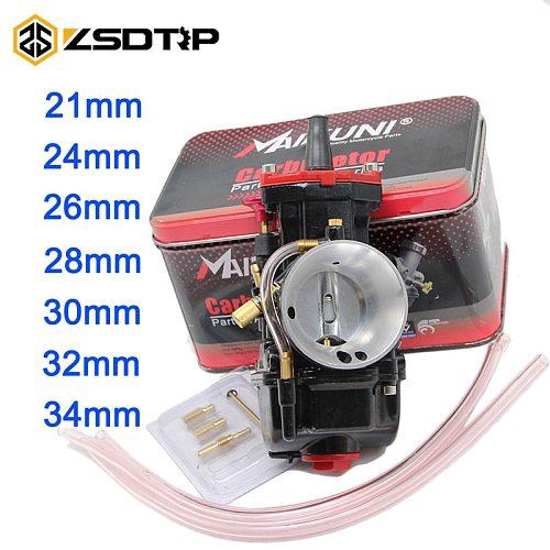 ZSDTRP brand new 21 24 26 28 30 32 34 mm Motorcycle Engine Part Carburetor Mikuni PWK Carburetor With Power Jet Dirt Bike ATV