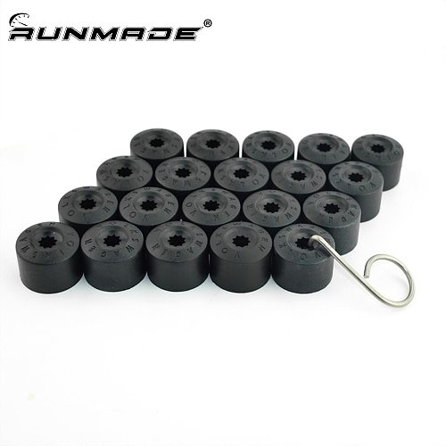 runmade For VW Jetta Golf MK5 Passat B6 Wheel Lug Bolt Center Nut Cover Caps 1K0 601 173 A