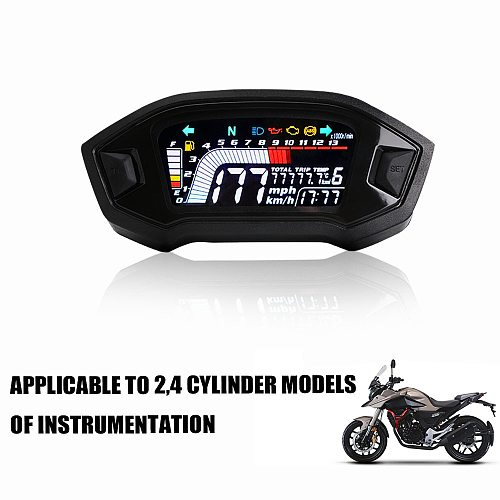 2020 Universal Motorcycle LED Adjustable Speedometer 13000 RPM optional backlight digital odemeter Tachometer for 1,2,4 cylinder