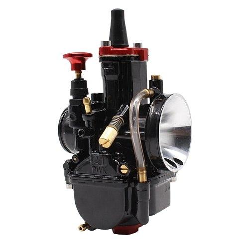 PowerMotor 21 24 26 28 30 32 34mm Universal Black Mikuni Maikuni PWK Carburetor Parts Scooters With Power Jet Motorcycle ATV