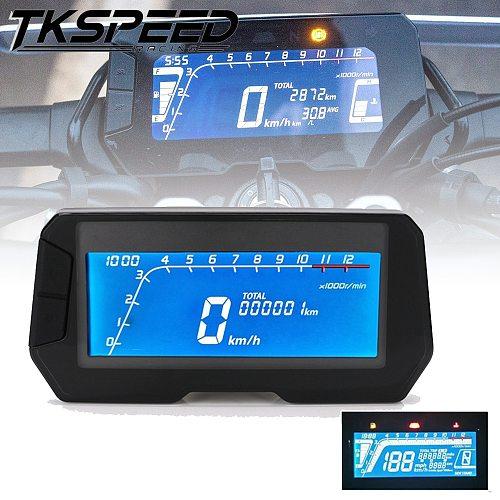 LED 12000RPM 6 Gear Universal Motorcycle LCD Digital Speedometer Backlight Motorcycle Odometer For1, 2,4 Cylinders Meter