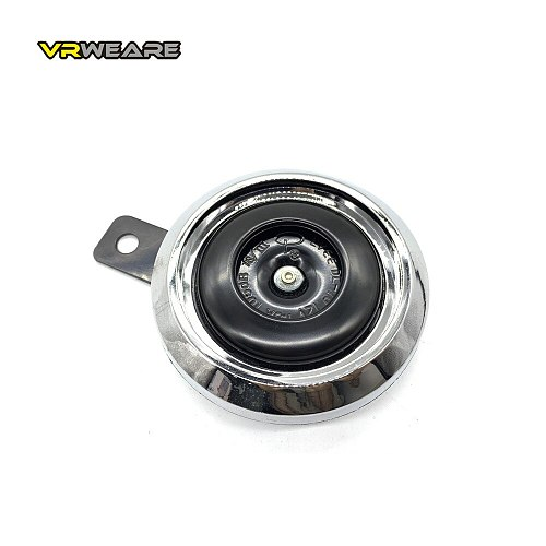DC 12V Motorcycle Electric Horn Chrome plated Waterproof loud horn Motorbike Vehicle Classic Horn With Cover  Universal