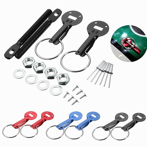 Universal 3 Color Alloy Racing Car Vehicle Bonnet Hood Fasten Pin Pins Lock Latch Mount Kit For Honda For Ford For BMW For Benz