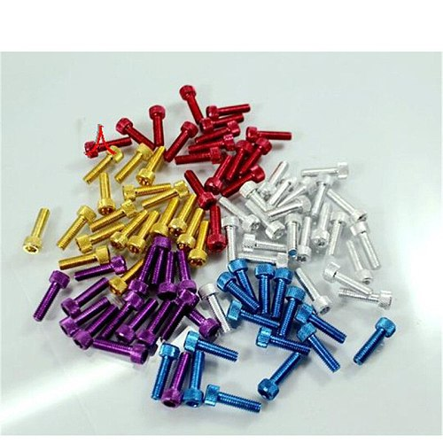 10PCS colorful universal 6MM racing motocross part kit fairing dirt pit bike moto fixing Nuts Bolts accessories motorcycle screw