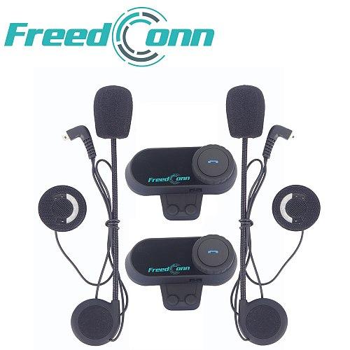 Original FreedConn TCOM-OS 100m Bluetooth Motorcycle Helmet Intercom Interphone Headset With FM Radio T-COM OS Intercomunicador