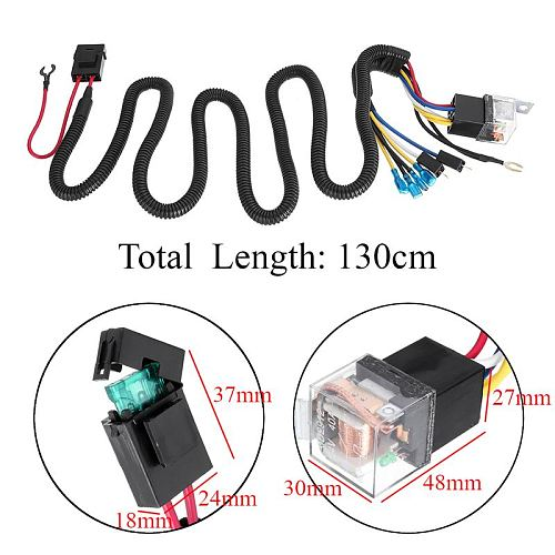 Hot Sell 12/24V 40A Electric Horn Relay Wiring Harness Kit For Grille Mount Blast Tone Horns Car High Quality