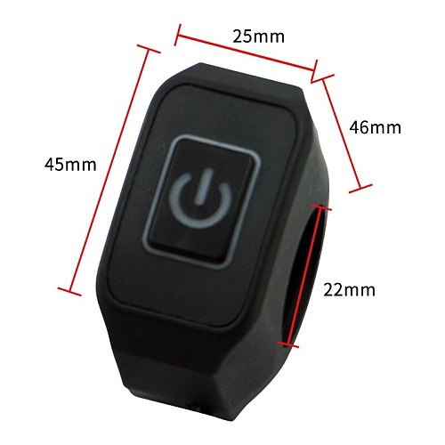 22mm 7/8'' Motorcycle Handlebar Switch Momentry Buttton For Electric Star Kill Waterproof Control Switch Button with LED light