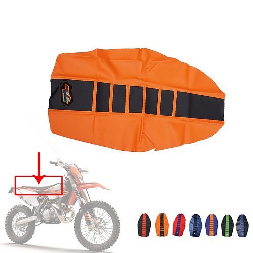Universal Rubber Vinyl Gripper Soft Seat Cover For KTM SX XC EXC XC-W SX-F 85 105 125 150 200 250 300 350 450 500 525 Dirt Bike