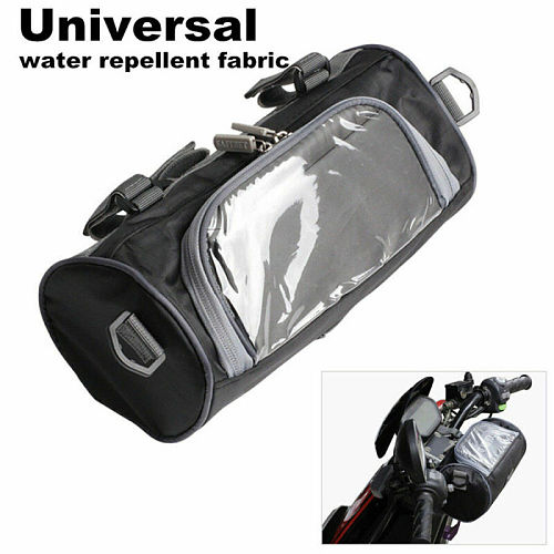 Portable Windshield Bag Motorcycle Front Handlebar Fork Storage Container Car Black 2.5L Nylon Waterproof