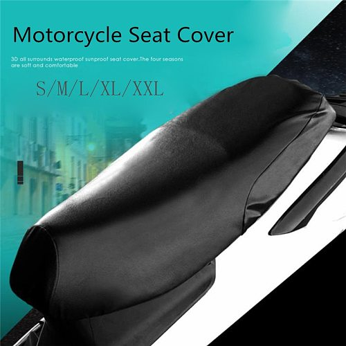 Universal Waterproof Motorcycle Sunscreen Seat Cover Cap Prevent Bask In Seat Scooter Sun Pad Heat Insulation Cushion Protect