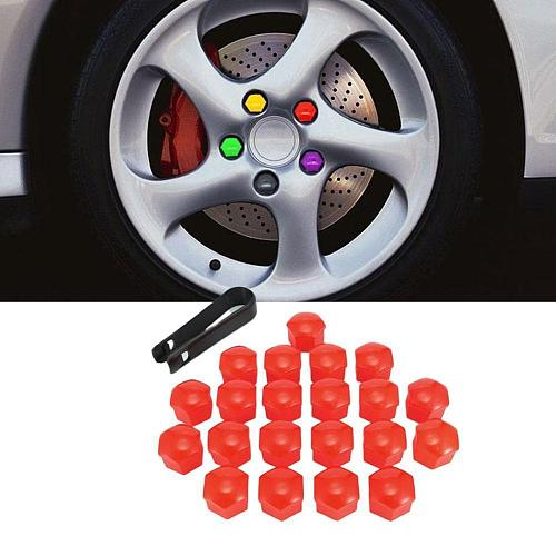 20pcs 17mm Tyre Cars Vehicles Tire Wheel Tyre Screw Cap Decorative Tyre Wheel Nut Screw Bolt Car Styling Dust Proof Protector
