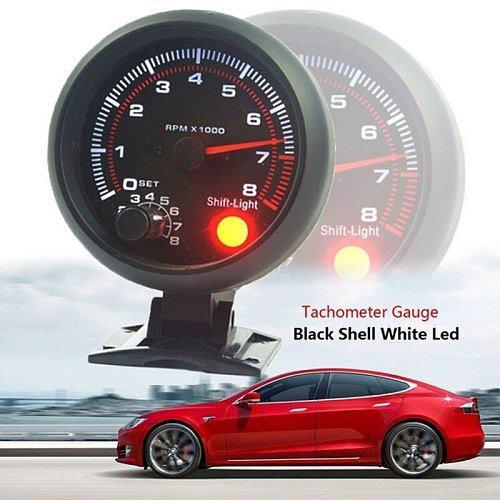Hot sale Waterproof 12v Car Led Shift Light 0-8000 Rpm New Tachometers Tacho Gauge Meter