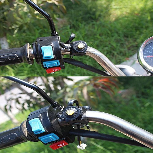 Motorcycle Universal On-Off Switch Push Button 12V ATV Off Road Motocross Dirt Bike Controller 22mm Handlebar Ignition Switches