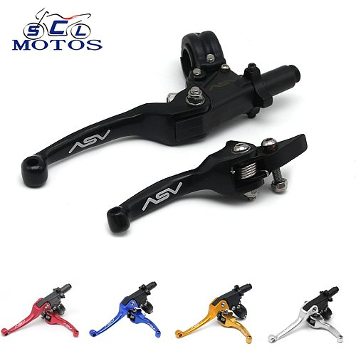 Sclmotos-ASV F3 2nd Alloy Motorcycle Brake & Clutch Handlebar Lever Motocross Pit Bike Dirt Pit Bike CR CRF YZF WRF KX KXF RMZ