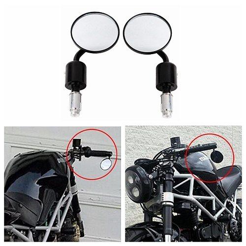 Motorcycle Universal CNC Aluminum Rear View 3  Handle Bar End 7/8  Mirrors for Kawasaki Yamaha Honda Suzuki Motorcycle Chopper