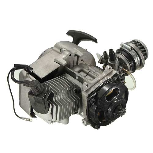 2 Stroke Pull Start Engine Motor Transmission Engine  Air Filter Mini Pocket Pit Quad Dirt Bike ATV 4 Wheel