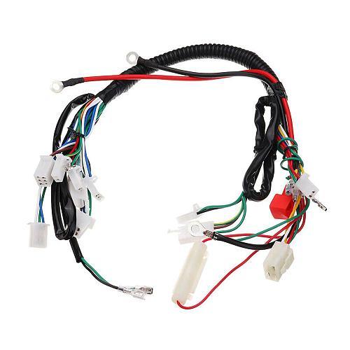 Dirt Bike ATV Quad Wire Harness For 50cc 70cc 90cc 110cc 125cc  Start Electric Assembly Wiring