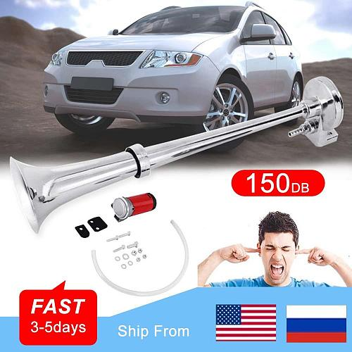150DB Car Horn 12V Super Loud Single Trumpet Air Compressor for Car Truck Boat Train Horn Hooter For Auto Sound Signal