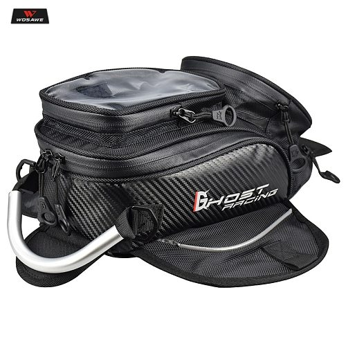 Magnetic Motorcycle Tank Bag Touch Screen Mobile Phone Waterproof Storage Handbag Moto Motorbike Racing Riding Bags