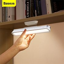 Baseus Stepless Dimming LED Reading Desk Lamp USB Rechargeable Table Lamp for Study Touch Magnetic Bedside Lamp Night Light Home