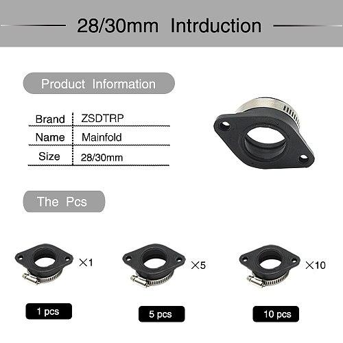 Alconstar- Rubber Motorcycle Carburetor Adapter Inlet Intake Pipe Dirt Bike For MIKUNI OKO KOSO KEIHIN 28 30 32 34 PE28mm PE30mm