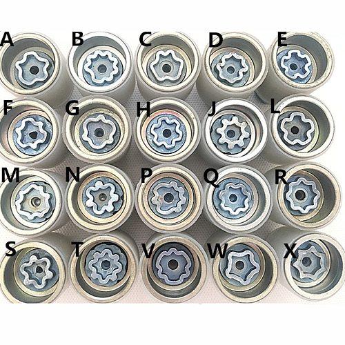 1PCS NoEnName_Null for Audi A1 A5 A3 A4L A6L A7 Q3 Q5 A8 TT R8 tire anti-theft screw disassembly tool key sleeve